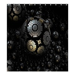 Fractal Sphere Steel 3d Structures Shower Curtain 66  x 72  (Large)