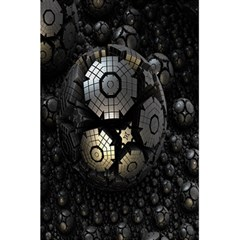 Fractal Sphere Steel 3d Structures 5 5  X 8 5  Notebooks