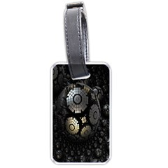 Fractal Sphere Steel 3d Structures Luggage Tags (two Sides)