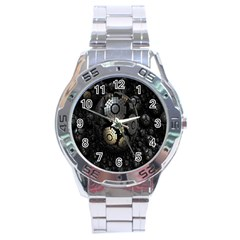 Fractal Sphere Steel 3d Structures Stainless Steel Analogue Watch