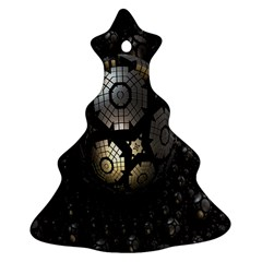 Fractal Sphere Steel 3d Structures Christmas Tree Ornament (Two Sides)