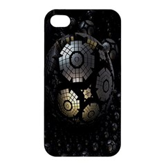 Fractal Sphere Steel 3d Structures Apple iPhone 4/4S Premium Hardshell Case