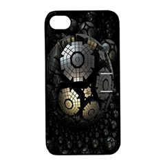 Fractal Sphere Steel 3d Structures Apple Iphone 4/4s Hardshell Case With Stand