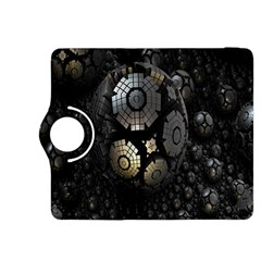 Fractal Sphere Steel 3d Structures Kindle Fire HDX 8.9  Flip 360 Case