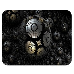 Fractal Sphere Steel 3d Structures Double Sided Flano Blanket (Medium)