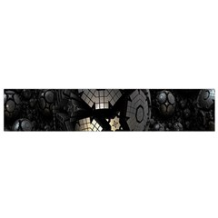 Fractal Sphere Steel 3d Structures Flano Scarf (Small)