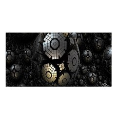 Fractal Sphere Steel 3d Structures Satin Shawl