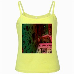 Fractals Geometry Graphic Yellow Spaghetti Tank