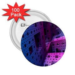 Fractals Geometry Graphic 2.25  Buttons (100 pack)