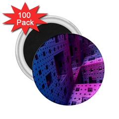 Fractals Geometry Graphic 2.25  Magnets (100 pack)
