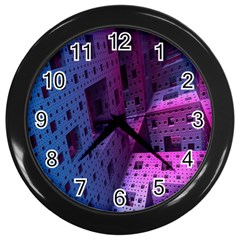 Fractals Geometry Graphic Wall Clocks (Black)