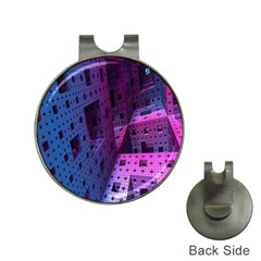 Fractals Geometry Graphic Hat Clips with Golf Markers