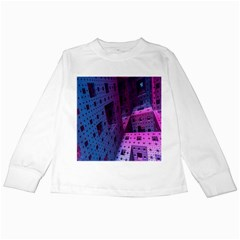Fractals Geometry Graphic Kids Long Sleeve T-Shirts