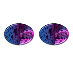 Fractals Geometry Graphic Cufflinks (Oval)