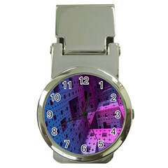 Fractals Geometry Graphic Money Clip Watches