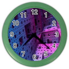 Fractals Geometry Graphic Color Wall Clocks