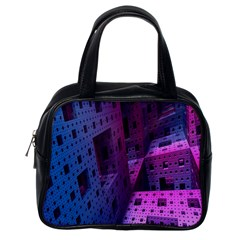 Fractals Geometry Graphic Classic Handbags (One Side)