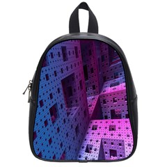 Fractals Geometry Graphic School Bags (Small)