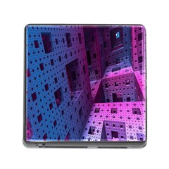 Fractals Geometry Graphic Memory Card Reader (Square)