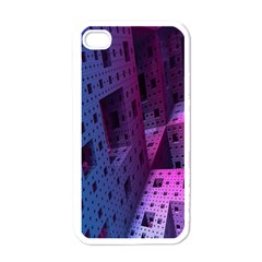 Fractals Geometry Graphic Apple Iphone 4 Case (white)