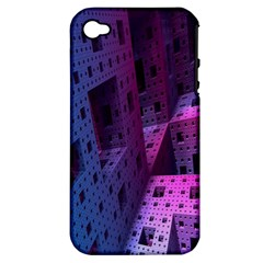 Fractals Geometry Graphic Apple iPhone 4/4S Hardshell Case (PC+Silicone)