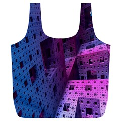 Fractals Geometry Graphic Full Print Recycle Bags (l)