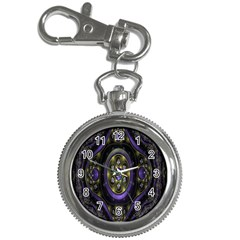 Fractal Sparkling Purple Abstract Key Chain Watches