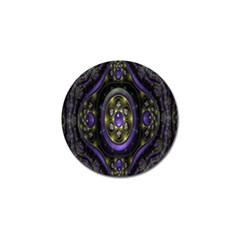 Fractal Sparkling Purple Abstract Golf Ball Marker (4 Pack)