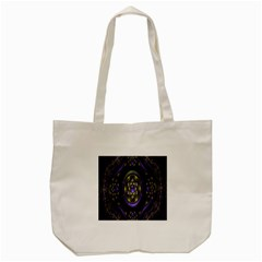 Fractal Sparkling Purple Abstract Tote Bag (Cream)