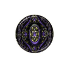 Fractal Sparkling Purple Abstract Hat Clip Ball Marker (10 Pack)