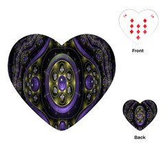 Fractal Sparkling Purple Abstract Playing Cards (heart)