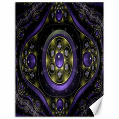 Fractal Sparkling Purple Abstract Canvas 12  X 16