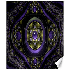 Fractal Sparkling Purple Abstract Canvas 20  x 24