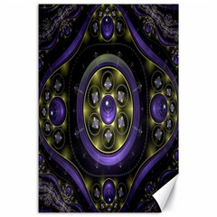 Fractal Sparkling Purple Abstract Canvas 24  X 36