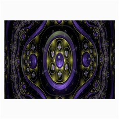 Fractal Sparkling Purple Abstract Large Glasses Cloth