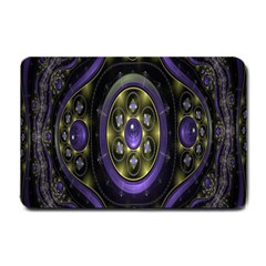 Fractal Sparkling Purple Abstract Small Doormat