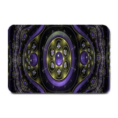 Fractal Sparkling Purple Abstract Plate Mats