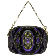 Fractal Sparkling Purple Abstract Chain Purses (One Side)