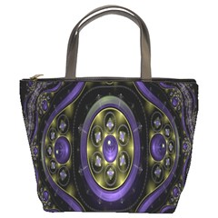 Fractal Sparkling Purple Abstract Bucket Bags