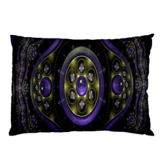 Fractal Sparkling Purple Abstract Pillow Case