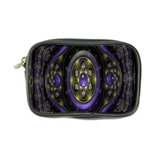 Fractal Sparkling Purple Abstract Coin Purse