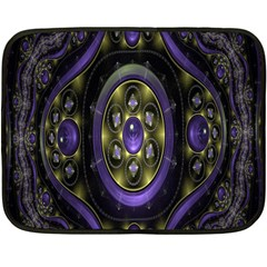 Fractal Sparkling Purple Abstract Double Sided Fleece Blanket (Mini)
