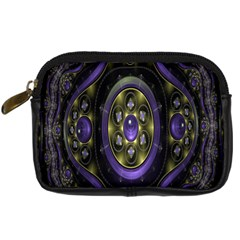 Fractal Sparkling Purple Abstract Digital Camera Cases