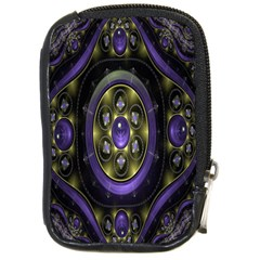 Fractal Sparkling Purple Abstract Compact Camera Cases