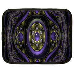 Fractal Sparkling Purple Abstract Netbook Case (XL)