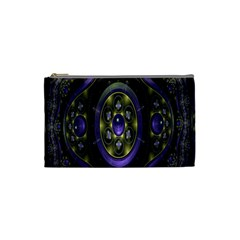 Fractal Sparkling Purple Abstract Cosmetic Bag (Small)
