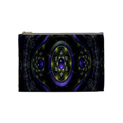 Fractal Sparkling Purple Abstract Cosmetic Bag (Medium)