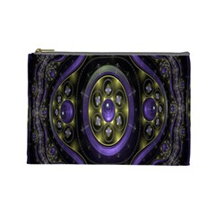 Fractal Sparkling Purple Abstract Cosmetic Bag (Large)