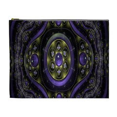 Fractal Sparkling Purple Abstract Cosmetic Bag (XL)