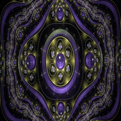 Fractal Sparkling Purple Abstract Magic Photo Cubes